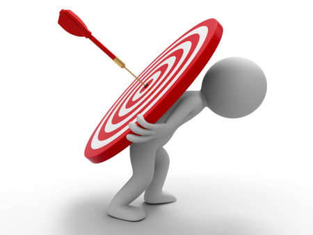 Darts target a people is carrying a dartboard  with difficulty Stock Photo - 15448045
