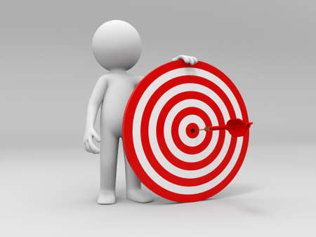 dart board: Darts target a people is standing with a dartboard