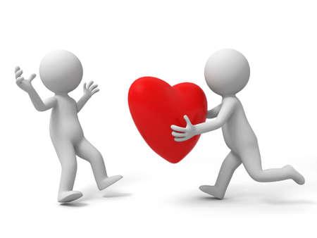 Love A la gente da un anoher un corazón Foto de archivo - 15432088