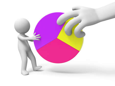 pie chart graph: Chart  A person holding the charts