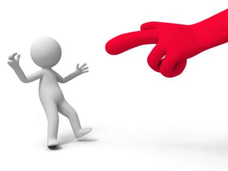 beh�rde: Angeklagten zu kritisieren Eine Hand in der Angeklagten eine Person