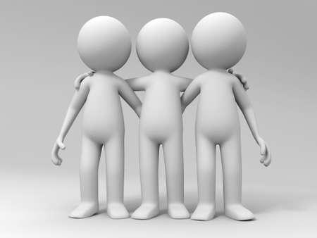 partners: Cooperation partner team Three men stood together