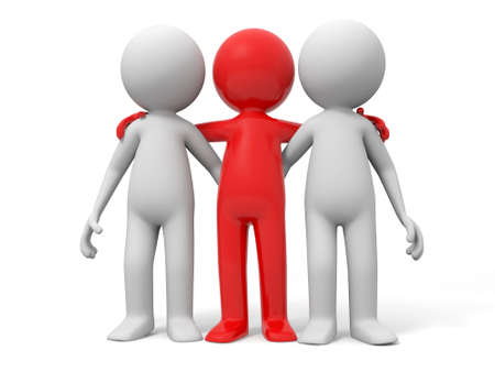 Cooperation partner team Three men stood together Stock Photo - 15431189