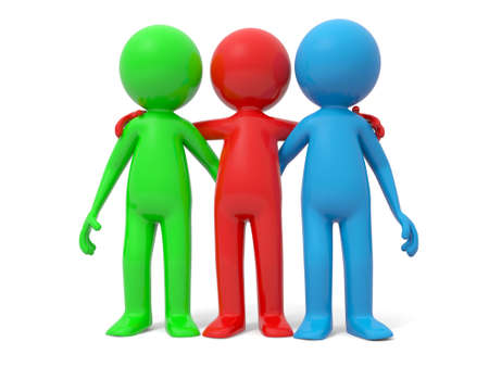 Cooperation partner team Three men stood together Stock Photo - 15431178