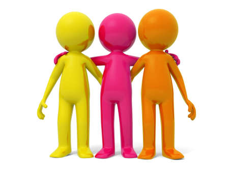 Cooperation partner team Three men stood together Stock Photo - 15431179