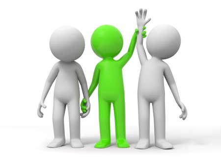 perdedor ganador el árbitro levantará la mano del ganador Foto de archivo - 15431166