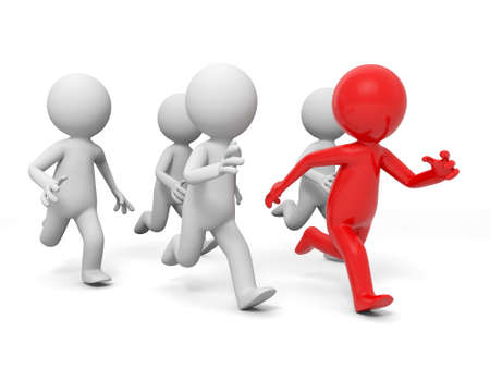 razas de personas: competencia carrera de �xito ganar cinco personas en la carrera