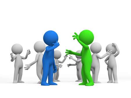 discussed: Discuss debate Several people are discussed