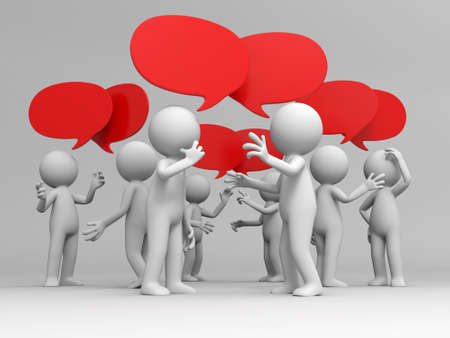 Discuss debate Several people are discussed Stock Photo - 15430691