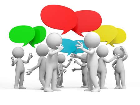 Bespreek debat Verschillende mensen worden besproken