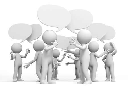 Discuss debate Several people are discussed Stock Photo - 15430679
