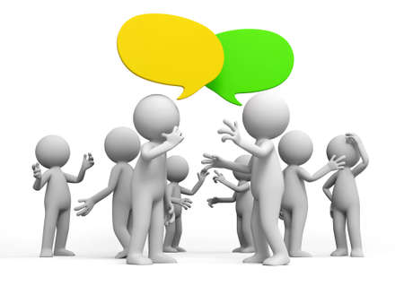 Discuss debate Several people are discussed