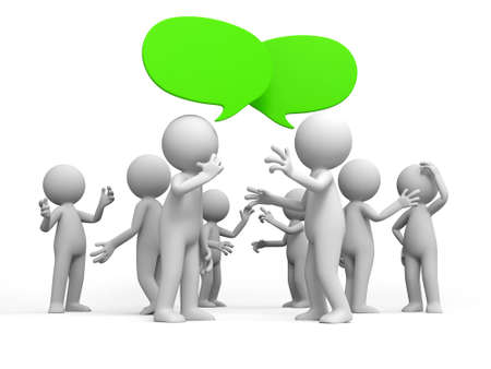 gente comunicandose: Discuta debate Varias personas se discuten