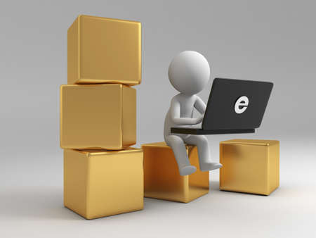 e store: Online trading A people is to use the computer on several boxes