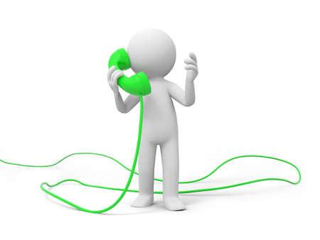 telefono caricatura: Teléfono de contacto A la gente habla por teléfono