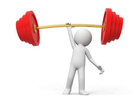 one man only: Weightlifting win A people lift the weight