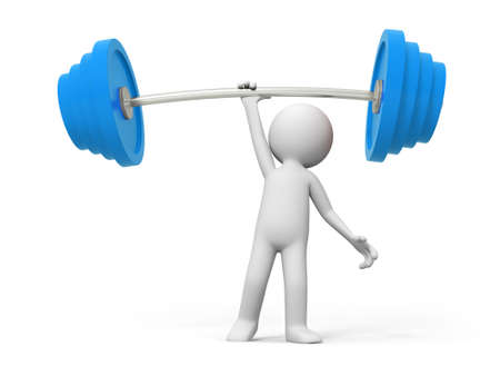 weight weightlifting: Weightlifting win A people lift the weight