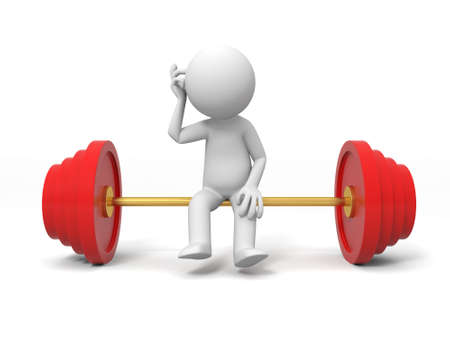 stretcher: Weightlifting  A people sitting on the Weightlifting Stock Photo