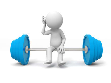 Weightlifting  A people sitting on the Weightlifting Stock Photo - 15426296