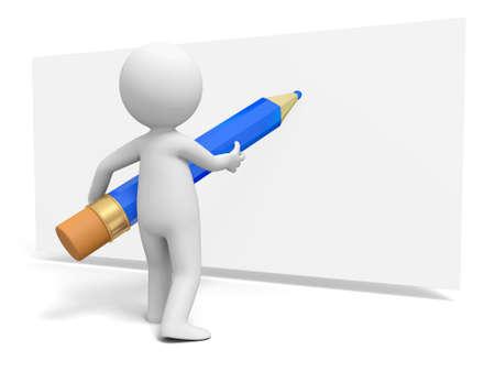 simbolo uomo donna: Scrivi matita Una persona in forma scritta con la matita sulla carta Archivio Fotografico