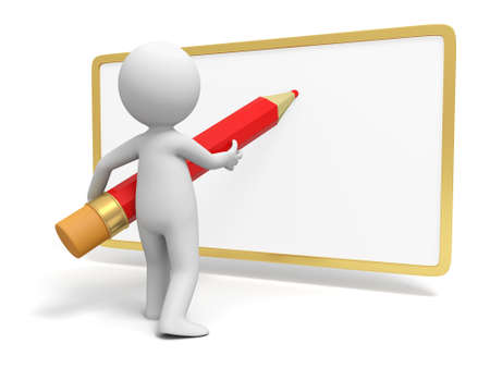 Write Pencil  board  A person in writing with pencil on the board Stock Photo - 15457684