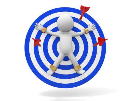 dart on target: Dart target a people on the target