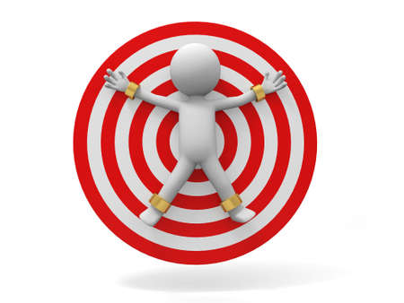 dart on target: dangerous target a people on the target
