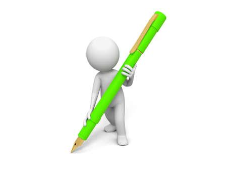 hombre escribiendo: Escribe Pluma Una persona por escrito con una pluma Foto de archivo