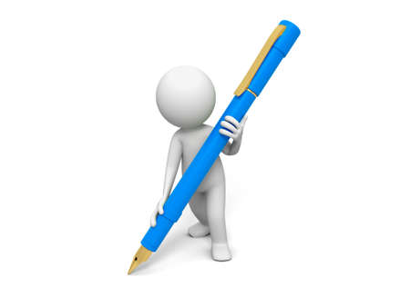 Write Pen A person in writing with a pen Stock Photo - 15457115
