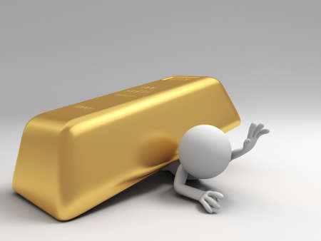 reserve: Gold money A people pinned down by a big gold brick
