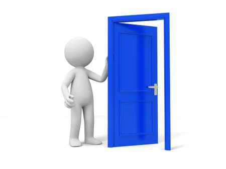knocker: Door Think A person standing at a opened door
