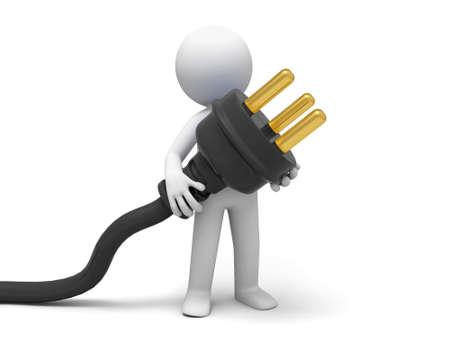 Plug powder cord  a person carrying plug photo