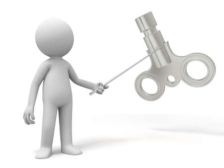 stimulus: Clockwork a man point to a clockwork