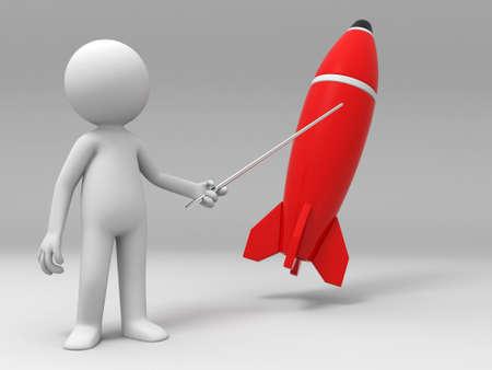 hit tech: Bomb  a man pointing a bomb