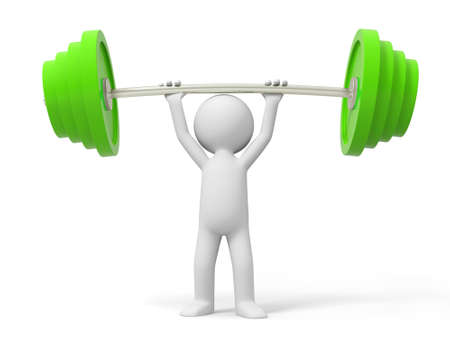 Barbell a man carrying a barbell Stock Photo - 15457165