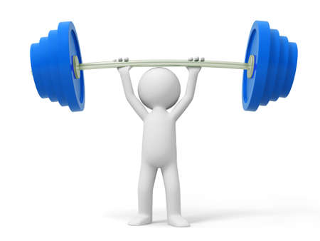 Barbell a man carrying a barbell Stock Photo - 15457203