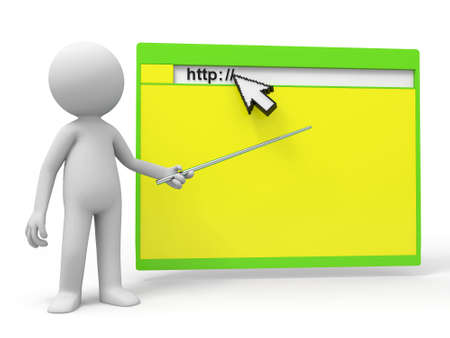 mouse cursor: http mouse a man pointing a web with a stick