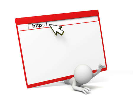 http mouse a web, a man under it Stock Photo - 15457271