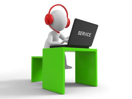 repondre au telephone: Ordinateur de bureau d'un homme d'affaires travaillant, assis � un bureau