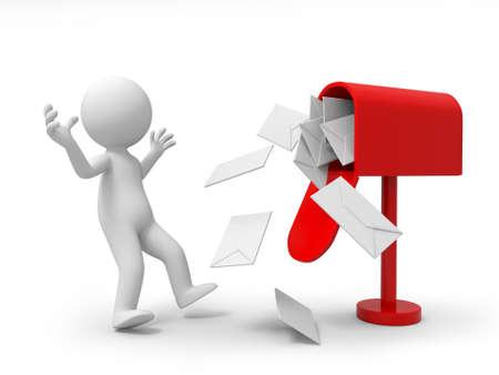 levelezés: A 3d személy meglepett a rengeteg levelet az e-mail box