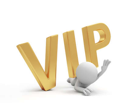 A 3d person , pressure below, VIP symbol Stock Photo - 18623640