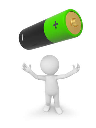 battery icon: a 3d person looking up at a battery