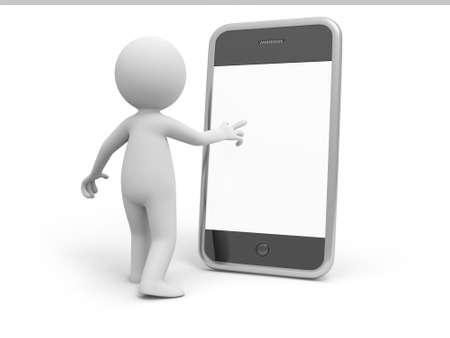 petit bonhomme: Téléphone mobile