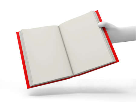 e learnig: A 3d hand taking an opened book