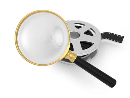 A magnifying glass  film video watch  magnify photo