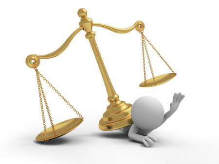3d person: Una persona 3d presionada por una ley de escala