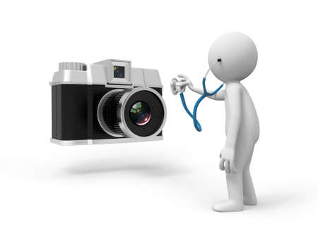 A 3d people watching the camera with a stetheoscope photo