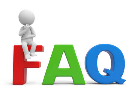 frequently asked question: 3d human character  Frequently Asked Question Stock Photo