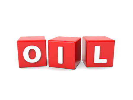 diesel fuel: Inscription on the cubes of red,oil