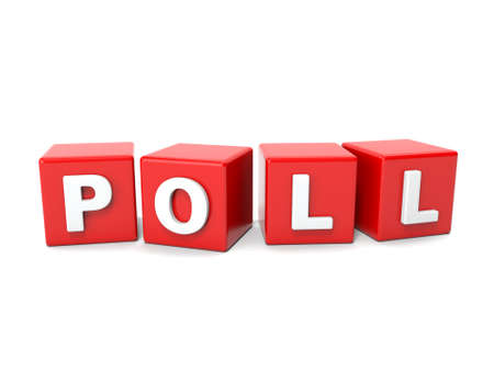 poll: Inscription on the cubes of red,poll